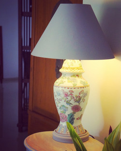 Chalk Painted lampshade