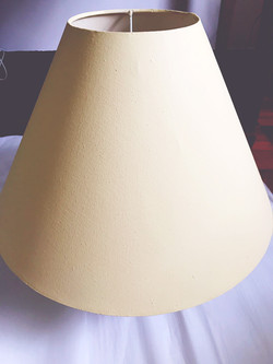 Chalk Painted lampshade.