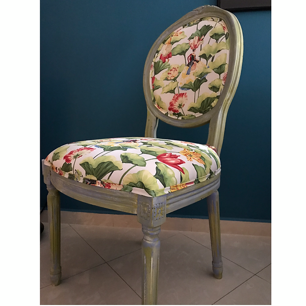 Newly painted and upholstered