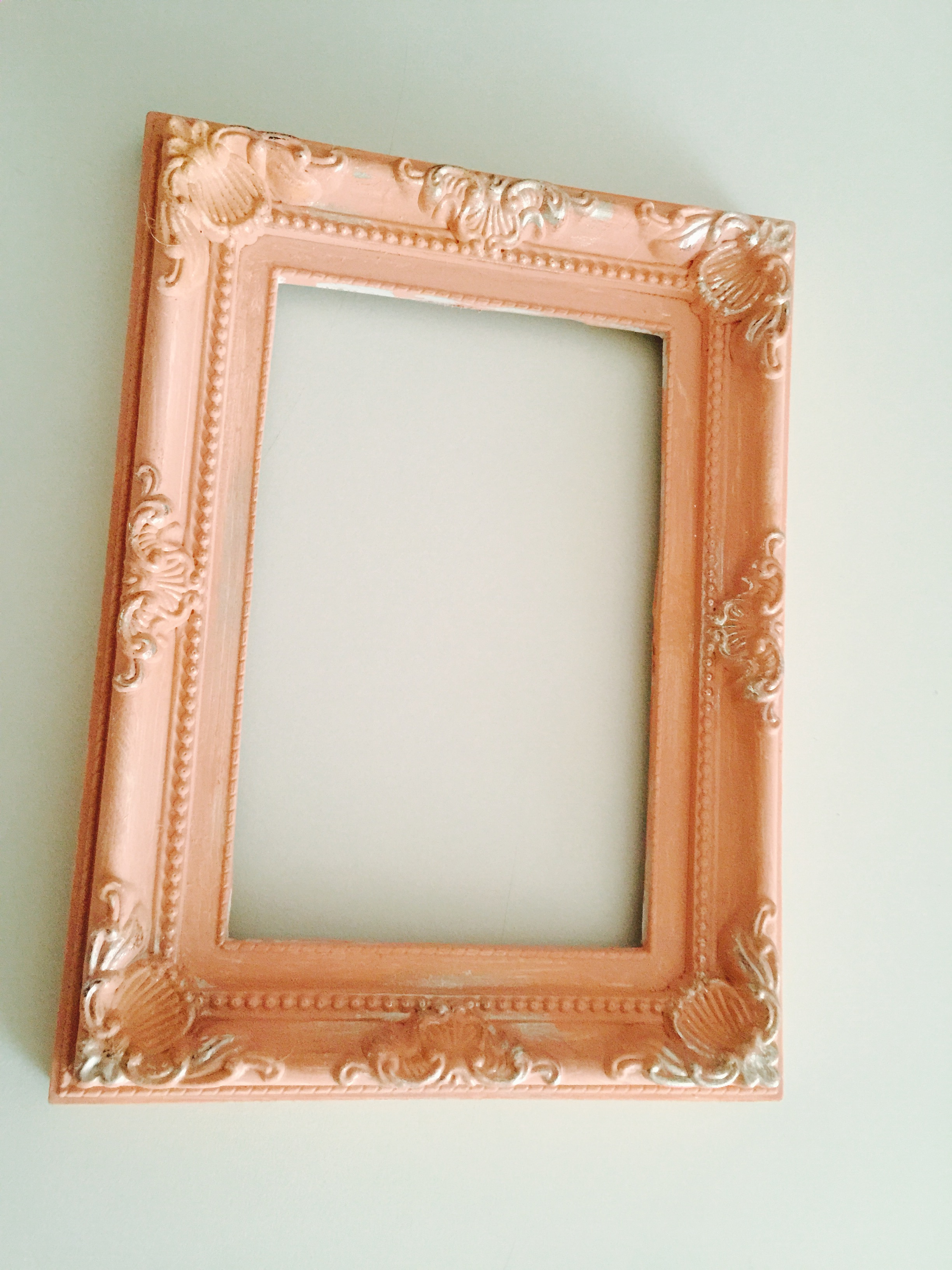 Chalk painted plastic picture frame.