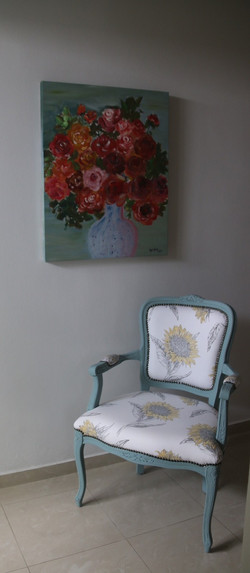 Chalk painted chair.