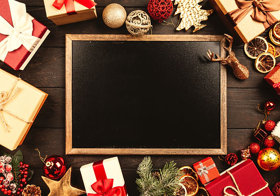 Canva - Chalkboard Surrounded By Christm