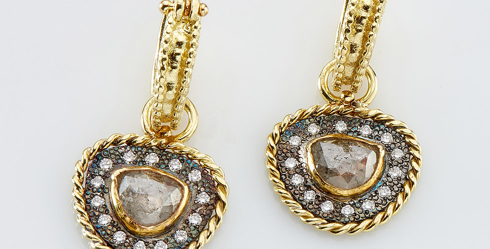 Royal Vintage Diamonds drops on hoops