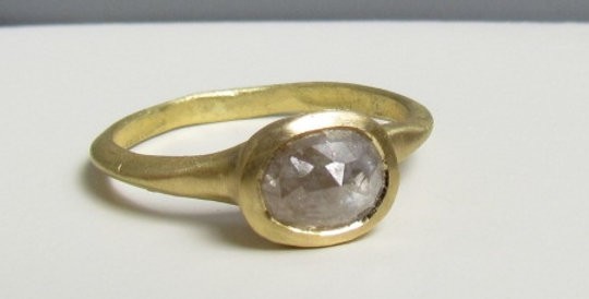 Rough diamond 18k ring