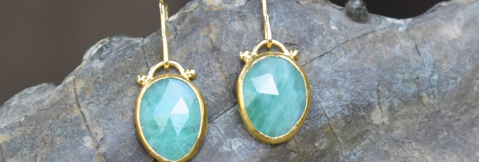 Opaque Emeralds drop earrings