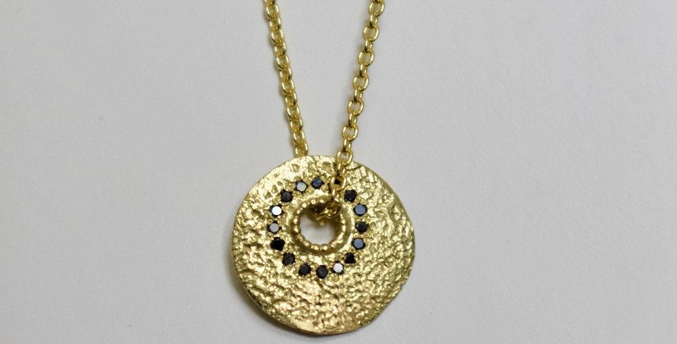 Textured disc with Black diamonds