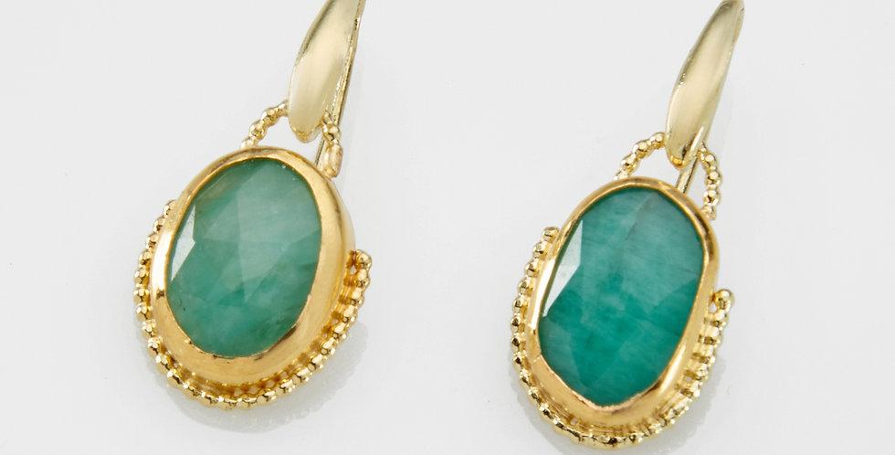 Dangling Emeralds earrings