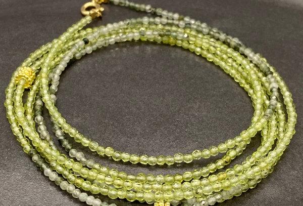 Peridot and Jade stone bracellet