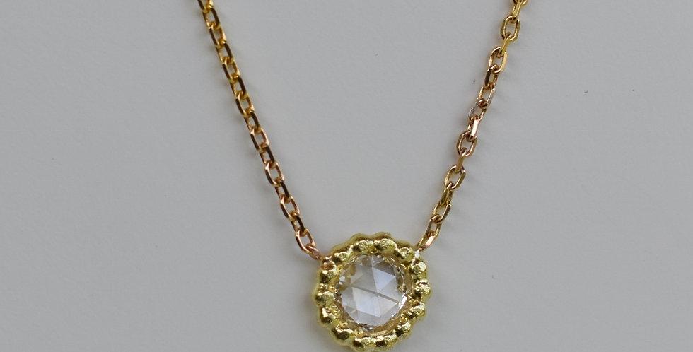 Sliced diamond pendant