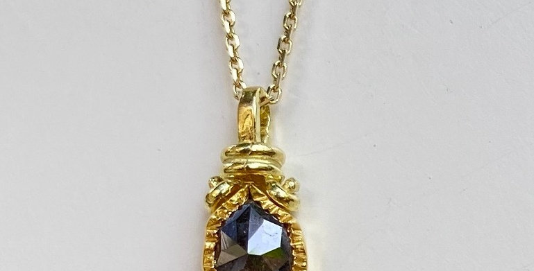 Brown Drop Diamond pendant