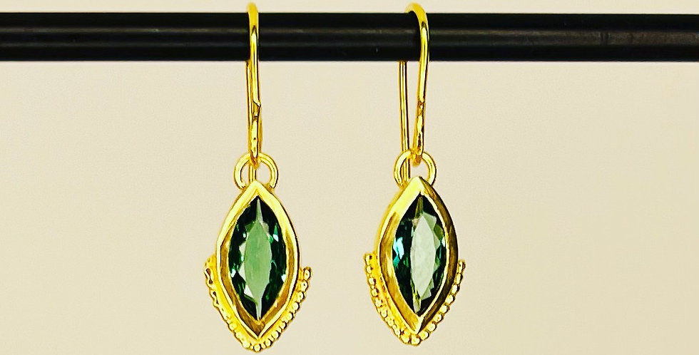 Green Tourmalines Marquize