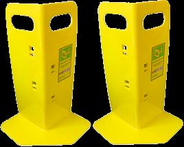 2 Yellow Corner Huggers