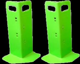 2 Green Corner Huggers