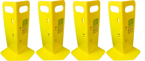 4 Yellow Cornerhuggers