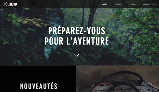 Sports website templates – Sacs de randonnée