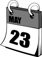 twenty-three-may-in-calendar-icon-cartoo
