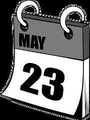 twenty-three-may-in-calendar-icon-cartoo