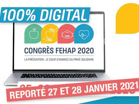 Congrès digital de la FEHAP les 27 et 28 janvier 2021