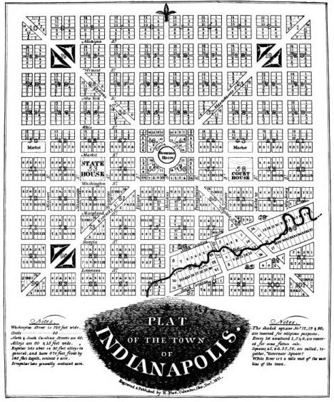 Original Plat of Indianapolis