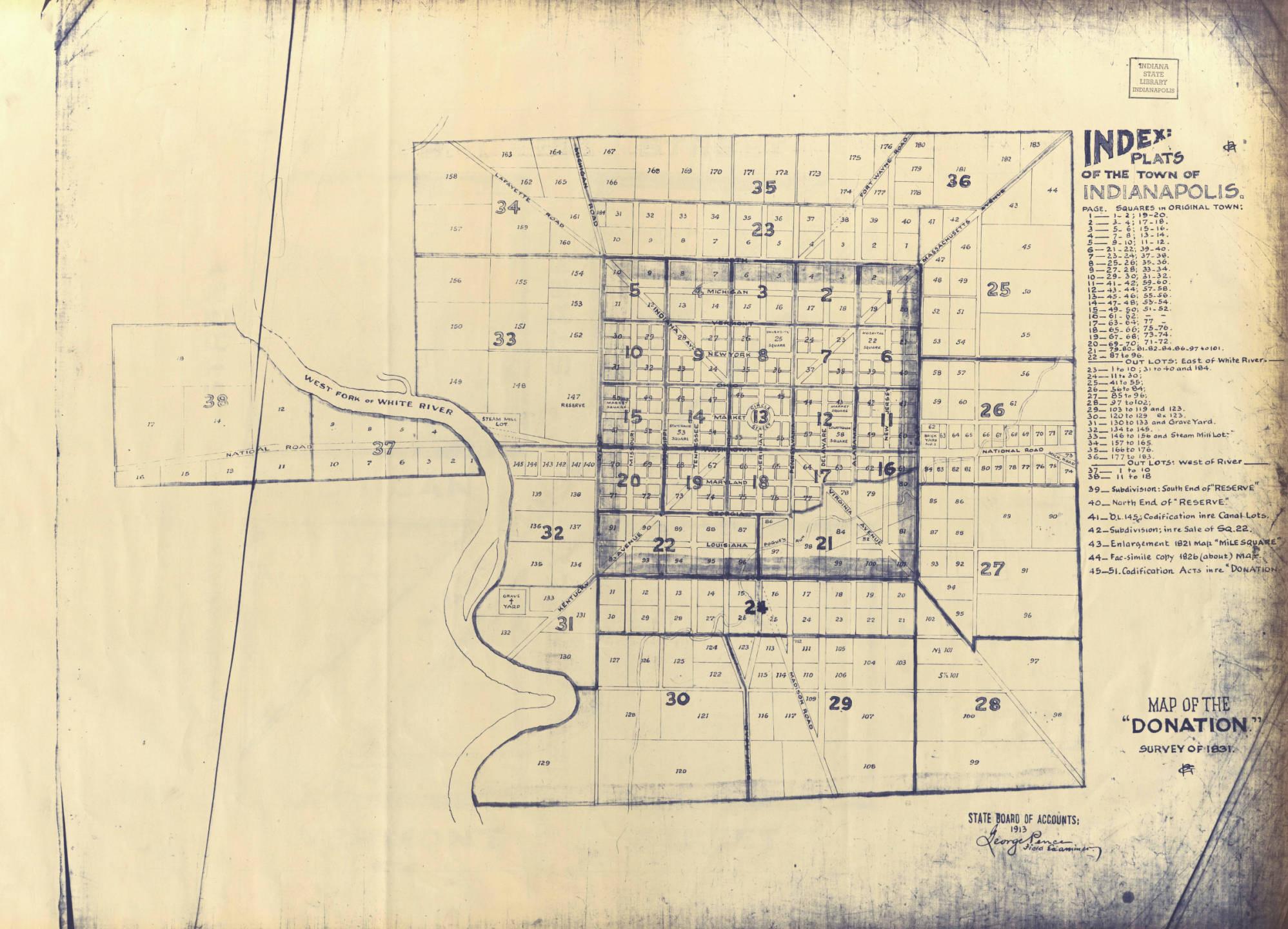 1831 Indianapolis Map Zoomed Out