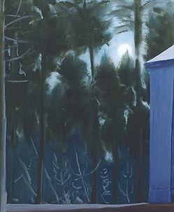 vodárna, olej na plátně, 90 x 75cm, 2018
