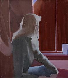 Místo, olej na plátně, 75 x 65 cm, 2019.