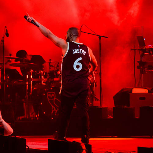 Drake in Cory Joe's Raptor's Jersey