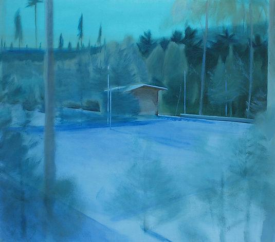 hřiště, olej na plátně, 180 x 160 cm, 20