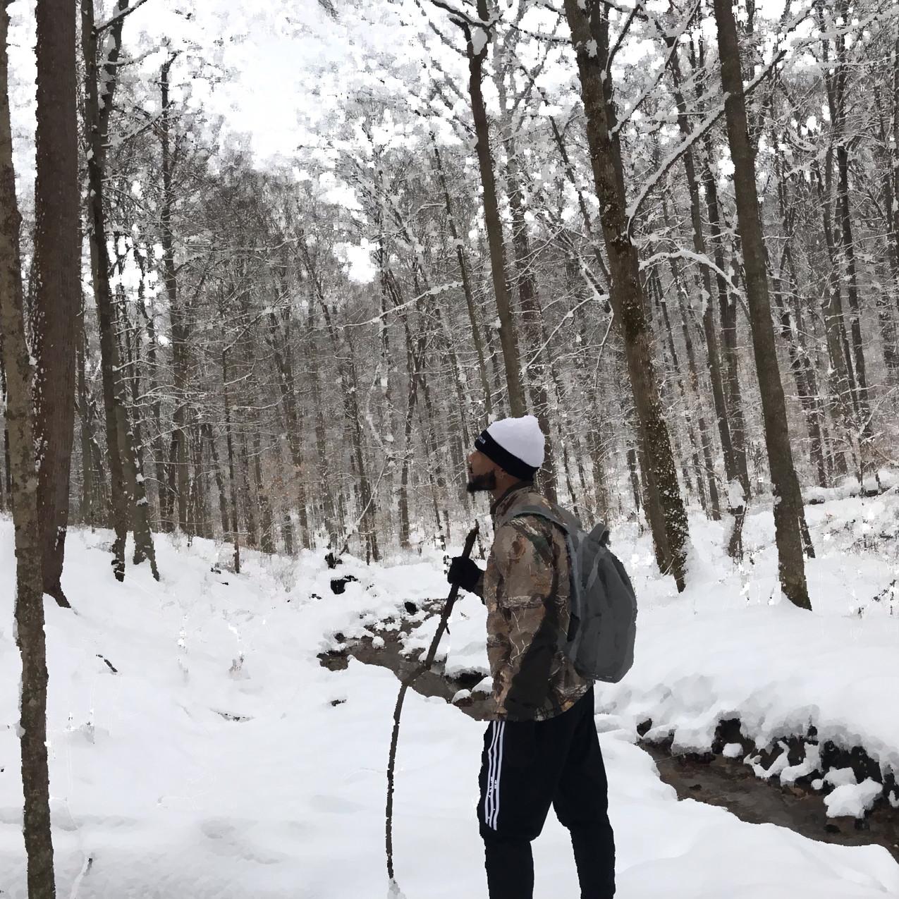 Sampson in Winter In the Ravine