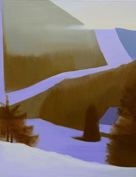 sjezdovka3, akryl a olej, 145 x 190 cm,