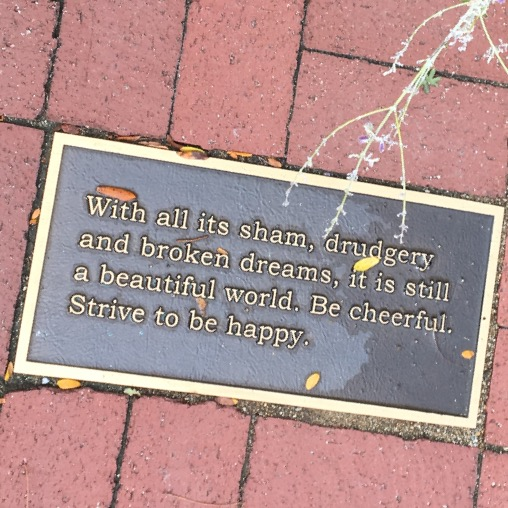With all its sham, drudgery  and broken dreams, it is still a beautiful word. Be cheerful. Strive to be happy.