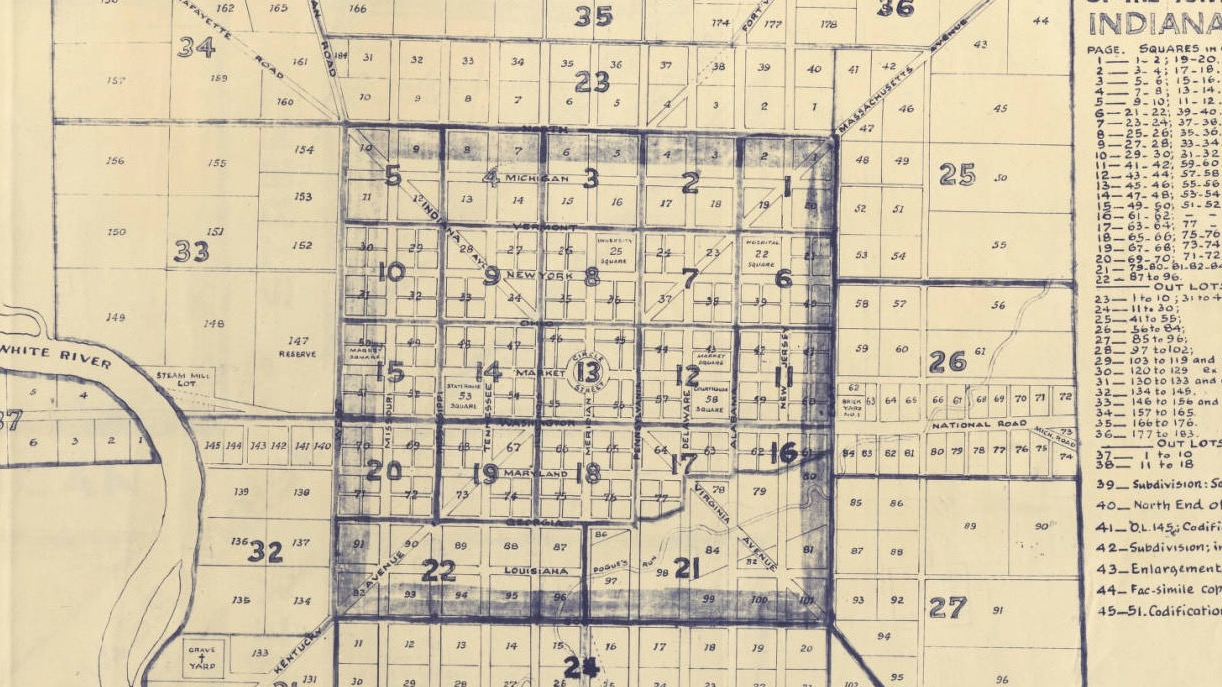 1831 Indianapolis Map