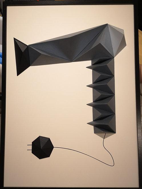 Tableau 50x70cm - Sèche-cheveux