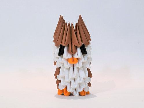 Kit Origami 3D - Hibou