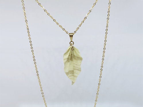 Collier Feuille - Gold Filled 14 Carats
