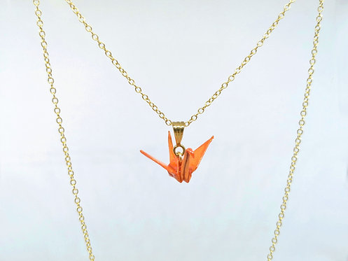 Collier Grue - Gold Filled 14 Carats