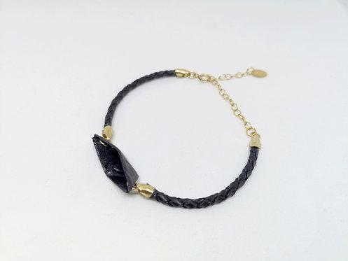 Bracelet Bateau - Cuir et Gold Filled 14 Carats