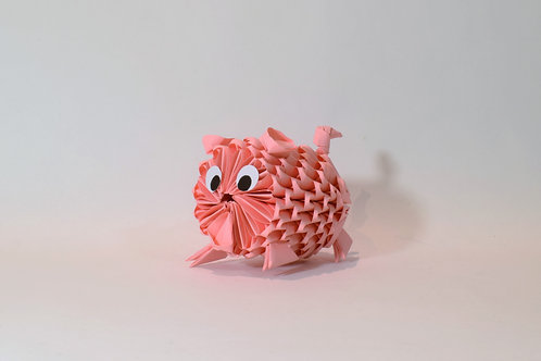 Kit Origami 3D - Cochon
