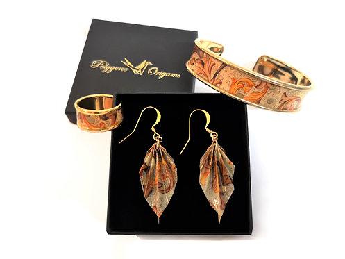 Boucles d'oreilles Feuilles - Gold-Filled 14 Carats