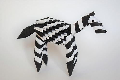 Kit Origami 3D - Zèbre