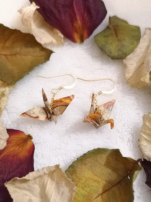 Boucles d'oreilles Grue - Gold Filled 14 Carats