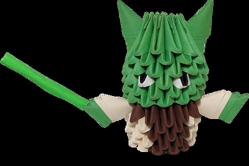 Kit Origami 3D - Yoda