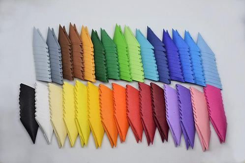 x500 Pièces Origami 3D - Choix parmi 30 couleurs