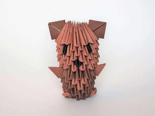 Kit Origami 3D - Ourson