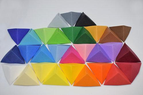 x25 Grandes Pièces Origami Pixel - Choix entre 30 couleurs