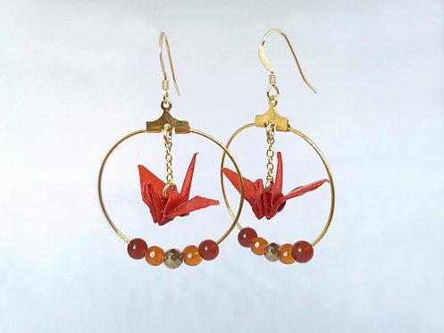 Créoles Gold Filled 14 Carats - Perles en pierres