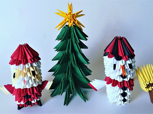 Kit Origami 3D - Collection Noël !