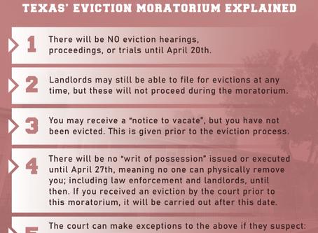 "Texas' Coronavirus ""Eviction Moratorium"" Explained: Know Your Rights"