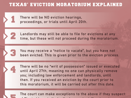 "Texas' Coronavirus ""Eviction Moratorium"" Explained: Know Your Rights"