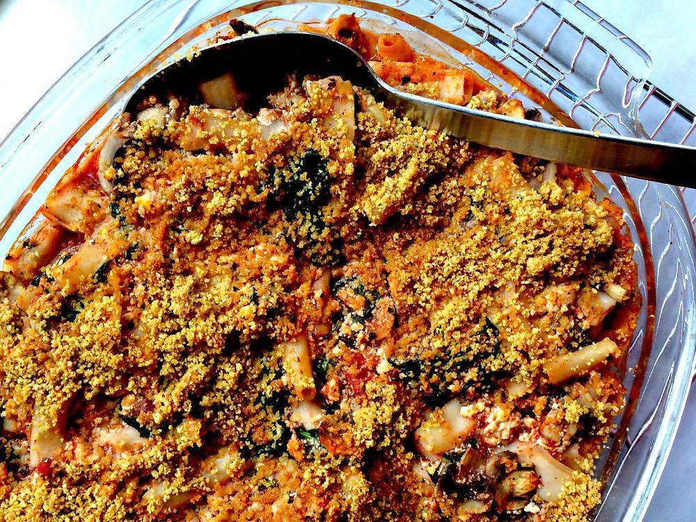 Tofu Ricotta Pasta with Broccoli Rabe